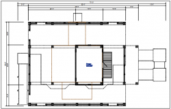 Column plan view detail dwg file