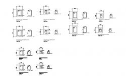 Column section and structure cad drawing details dwg file