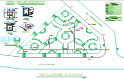 Column section detail and Layout plan detail dwg file