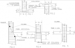 Column section detail dwg file