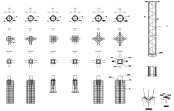Column section plan detail dwg file