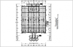 Column view for floor plan with structural detail dwg file