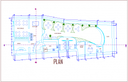 Comm unitary center plan dwg file