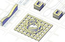 Commerce Building 3d model AutoCAD Drawing