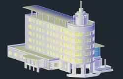 Commerce Building 3d model AutoCAD File