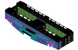 Commerce Building Design 3d AutoCAD Drawing