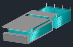 Commerce Building Hub 3d model AutoCAD File