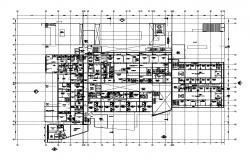 Commerce building structure detail 2d view CAD structure layout plan in autocad format