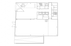 Commerce office building structure detail 2d view layout plan in autocad format