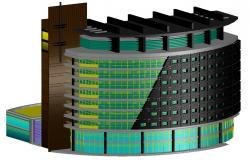 Commercial Building 3d model AutoCAD File