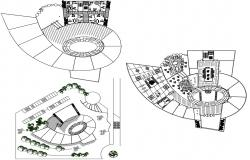 Commercial Building Design Drawing CAD File