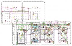Commercial Building Electrical Floor Plan Layout AutoCAD File