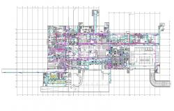 Commercial Building Electrical Layout Plan CAD File
