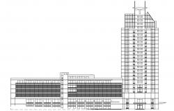 Commercial Building Elevation AutoCAD Drawing