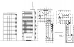 Commercial Building Plan and Elevation Drawing