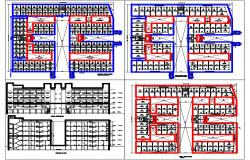 Commercial Complex Plan DWG File