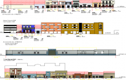 Commercial Complex Project detail dwg file