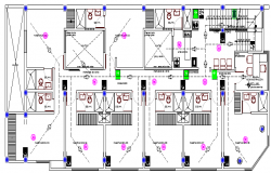 Commercial Two Star Hotel Design and Structure Details dwg file