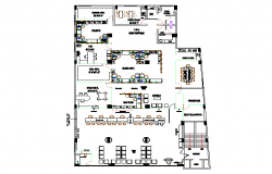 Commercial bank floor plan design