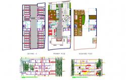 Commercial building design DWG File
