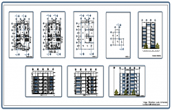 Commercial building design drawing