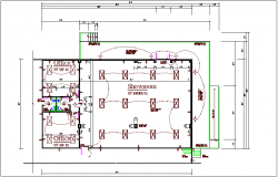 Commercial building electrical plan layout details dwg file