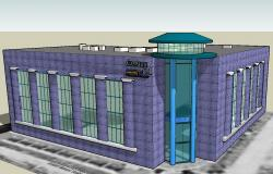 Commercial building in 3D