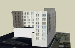 Commercial building in SketchUp file