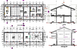 Commercial building plan and Elevation plan detail dwg file