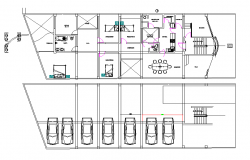 Commercial building plan detail dwg file