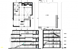 Commercial building plan detail dwg file.