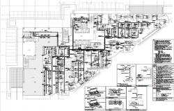 Commercial building plan detail with the normal power layout.