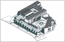 Commercial building plan elevation detail dwg file