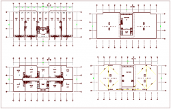 Commercial building plan for drainage pipe line view dwg file
