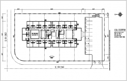Commercial building plan layout details dwg file