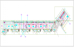 Commercial building plan layout dwg file