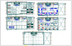Commercial building plan view detail dwg file