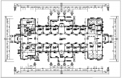Commercial building plan view layout details