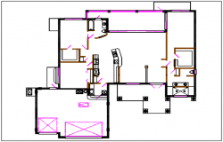 Commercial building plan view layout details dwg files
