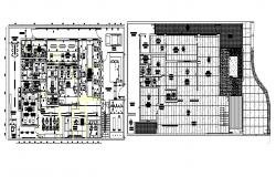 Commercial building plan with detail dimension in dwg file