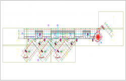 Commercial building roof floor plan layout dwg file