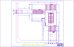 Commercial building terrace area plan dwg file