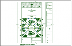 Commercial building top view detail dwg file