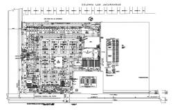 Commercial center and shopping complex distribution plan details dwg file