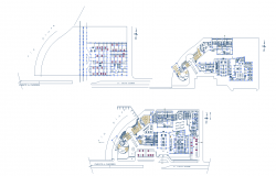 Commercial center layout plan dwg file