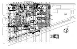 Commercial complex building detail 2d view CAD structural block layout dwg file