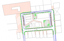 Commercial complex master plan dwg cad files
