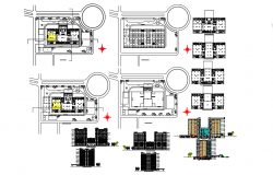 Commercial office building dwg file