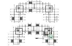 Commercial office centre line plan detail dwg file