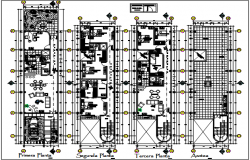 Commercial office plan detail dwg file